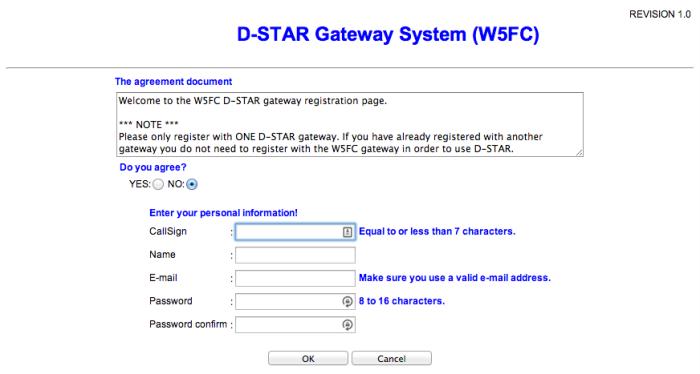 Dstar Registration Page