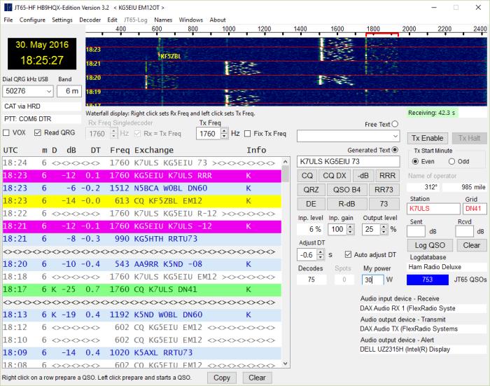 JT65-HF-HB9HQX 6M contact