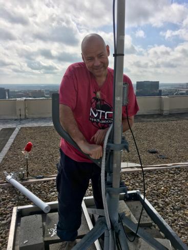 KG5EIU Installing Antenna Support