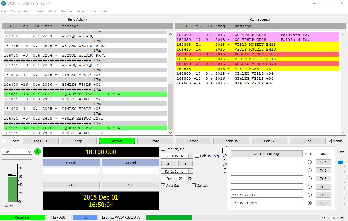 New WSJT-X 2 0RC5 |